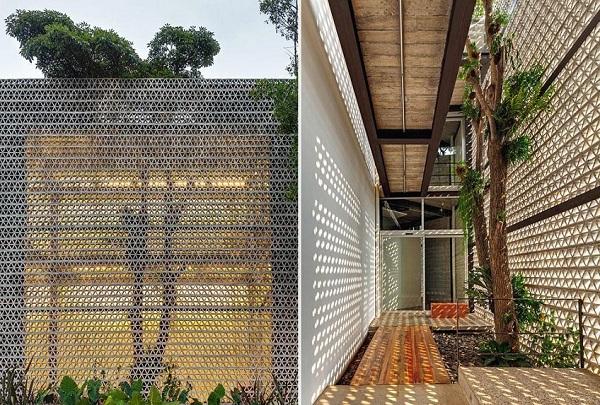 Gạch bông gió mang lại sự thông thoáng và vẻ đẹp hiện đại cho công trình