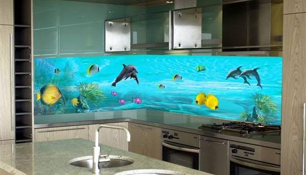 """Không gian nhà bếp thêm """"thú vị"""" với gạch 3D"""