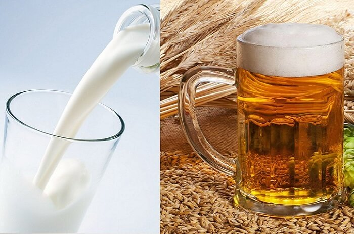 Cách tắm trắng bằng bia và sữa tươi