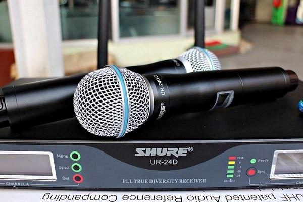 Micro Shure không dây chính hãng