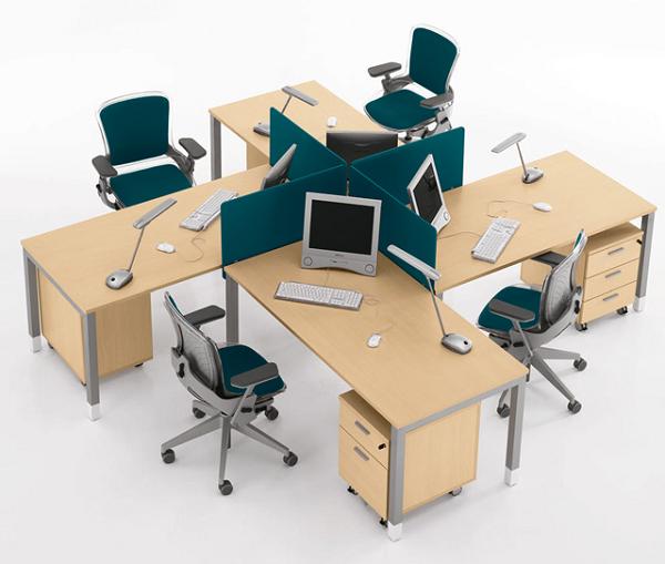 bàn làm việc nhân viên 4 người