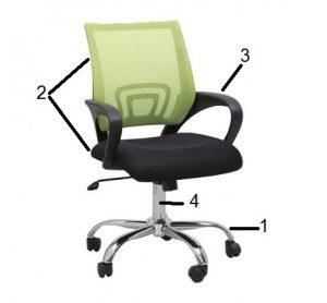 Lựa chọn kích thước ghế xoay phù hợp