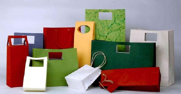 Bao bì giấy đa dạng về màu sắc, kích thước
