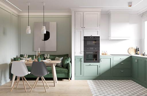 Cách chọn tủ bếp acrylic đẹp cho phòng bếp phong cách Scandinavian