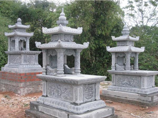 Mộ đá Ninh Bình với thiết kế 2 mái