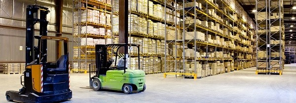 Using forklift trucks for heavy and top shelf items