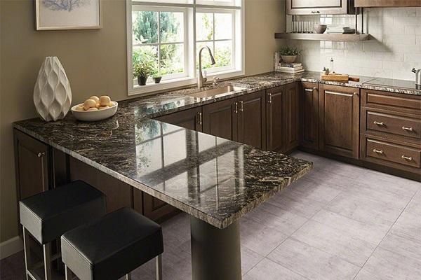 mua tủ bếp gỗ mặt đá granit