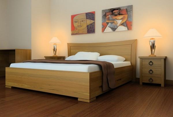 Giường ngủ gỗ sồi cao cấp mang lại phù hợp với không gian hiện đại