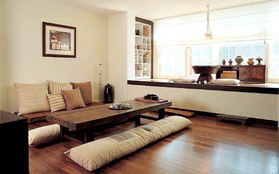 Thiết kế nội thất Hàn Quốc theo phòng khách