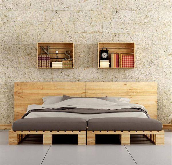 Giường ngủ gỗ Pallet – một sản phẩm tuyệt vời mang lại không gian mộc mạc, giản đơn nhưng vô cùng độc đáo