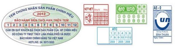 Nội dung trên tem bảo hành phải đầy đủ, chính xác, nổi bật