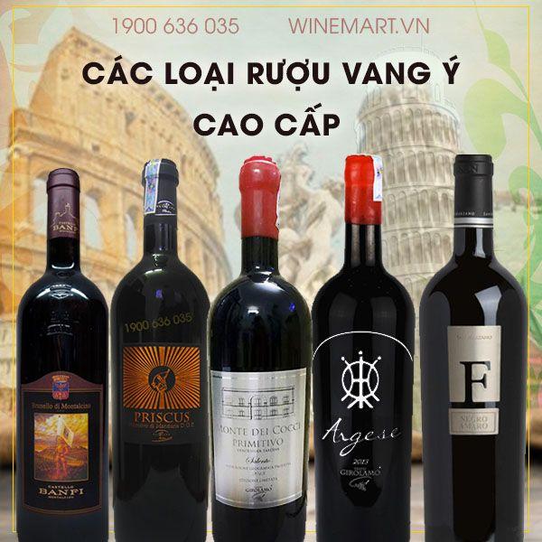 Rượu nhập khẩu Ý chính hãng