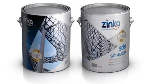 Sơn sắt mạ kẽm zinka
