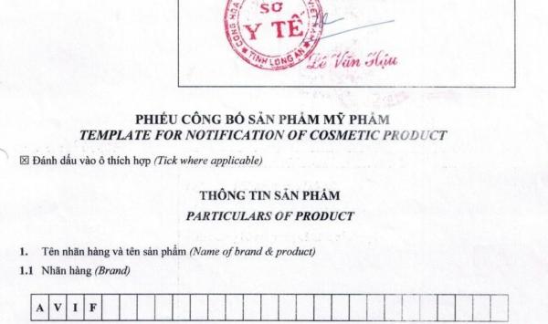 Thủ tục công bố mỹ phẩm nhập khẩu