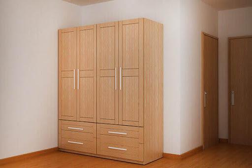 Tủ quần áo gỗ sồi cao cấp