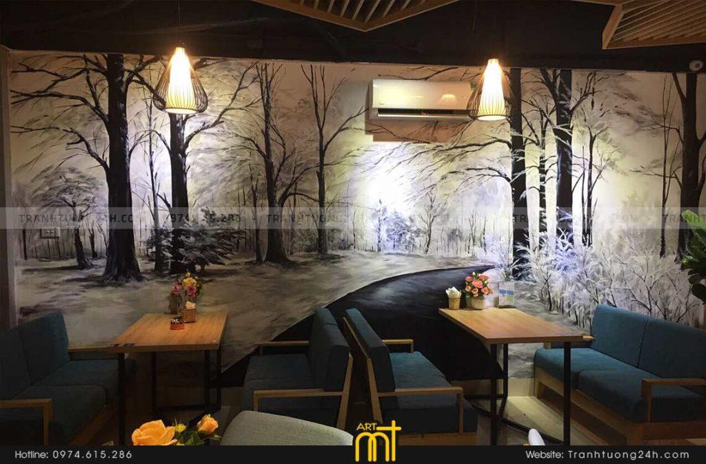 Vẽ tranh tường nhà hàng siêu đẹp