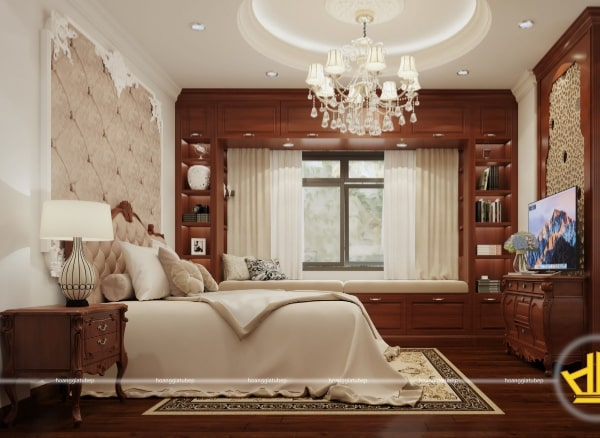 Mẫu thiết kế nội thất phòng ngủ tân cổ điển châu Âu