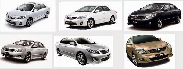 Thuê xe ô tô 4 chỗ với đa dạng các hãng xe khác nhau