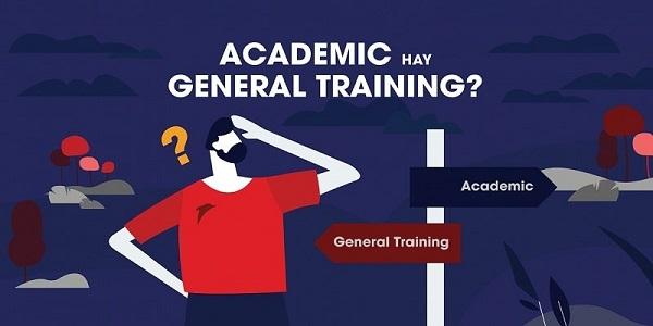 Nội dung kiểm tra của Academic có phần khác nhau
