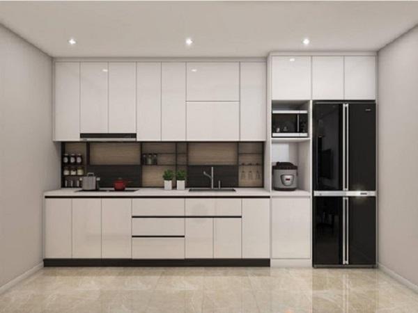 Tủ bếp acrylic màu trắng hiện nay