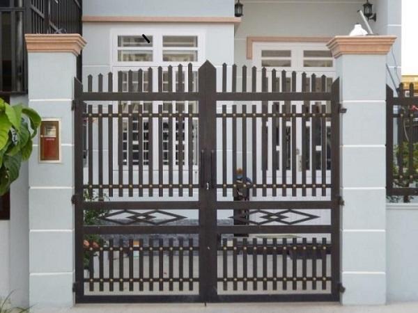 Mẫu cổng đẹp đơn giản được sử dụng rộng rãi