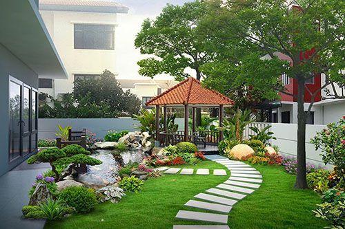 Thiết kế sân vườn đẹp với nhiều ý tưởng thiết kế độc đáo