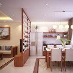 Vách ngăn phòng khách và bếp